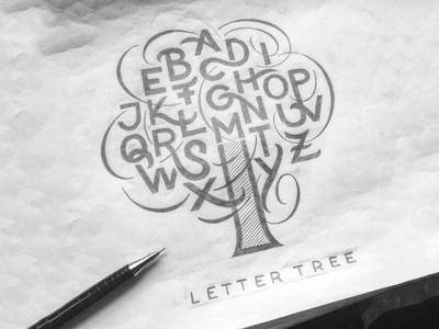 Lettertree sketch flourishes lettering