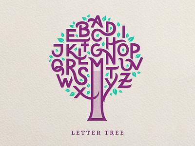 Lettertree texture script flourishes lettering