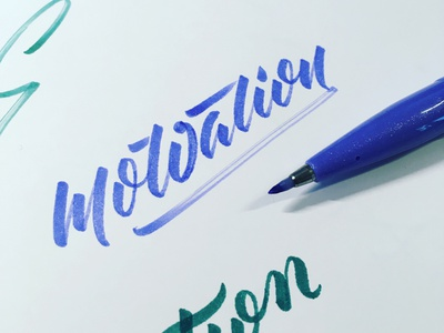 Motivation brush lettering