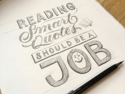 Quotes illustration sketch script lettering