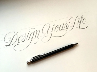 Design your Life sketch script flourishes lettering