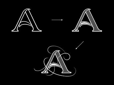 Flourish Alphabet design flourishes lettering