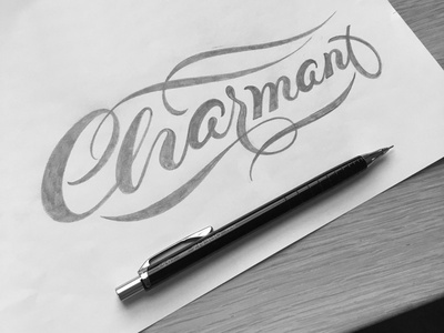 Charmant sketch flourishes lettering