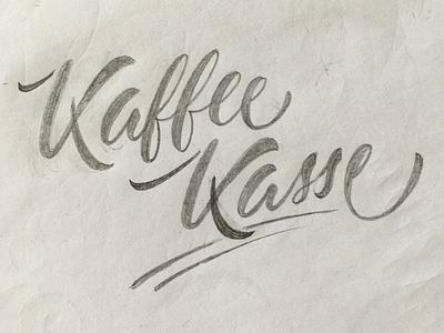 Kaffeekasse sketch script lettering