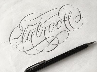 liebervoll sketch flourishes lettering