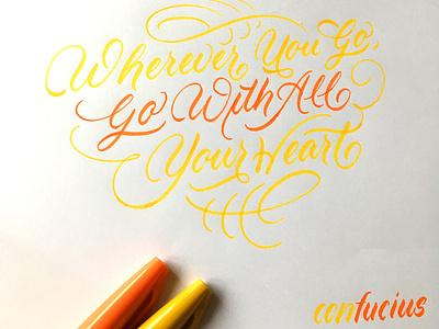 Quote 2 brushlettering brush flourishes lettering