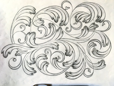 Flourishes Big sketch flourishes lettering