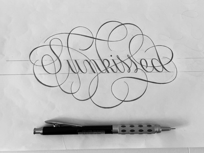 Sunkissed sketch script flourishes lettering