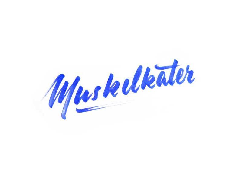 Muskelkater brush lettering