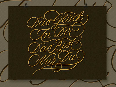 Glueck copperplate lettering