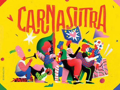 CarnaSutra - 01 pattern abstract illustration bloquinho bloco drums colorful people love instrument music kamasutra brazil carnaval