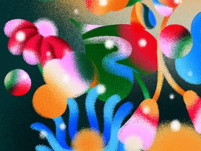 Small Jungle plants latino latin brazil flower abstract pattern illustration