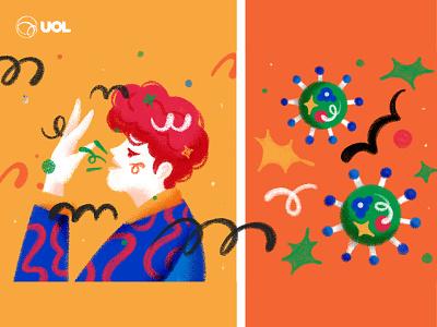 02 UOL &  GSK HIV healthcare health latin brazil blog content uol aids hiv sick virus illustration