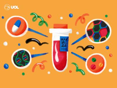 03 UOL & GSK HIV technology biotechnology pill medice remedy virus hiv dna science illustration