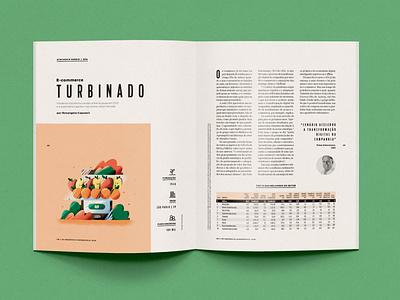 Globo Rural 02 magazine illustrations orange apple fruit photoshop cellphones editorial ecomerce agricultural
