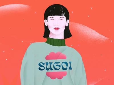 Sugoi Sweater clothing fashion brazil woman illustration