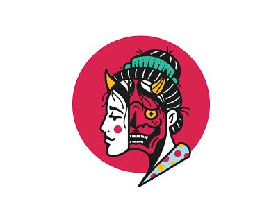 Hannya Girl girl tattoo illustration demon japan geisha hannya