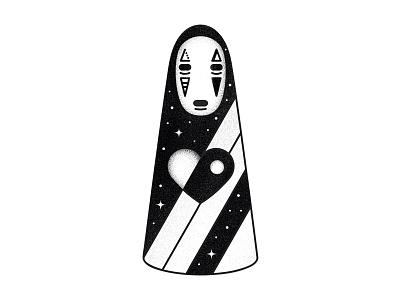 Kaonashi vector spirited miyazaki minimal manga japan illustrator fantasy design away art anime