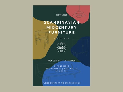 Scandinavian Midcentury Furniture - poster