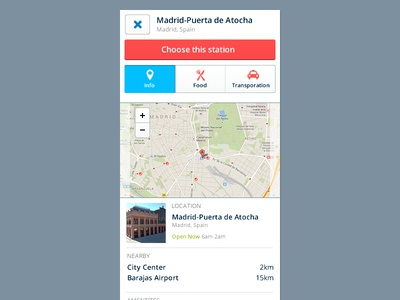 Map Information Panel map ui ux mobile small screen panel clean light web app web app travel