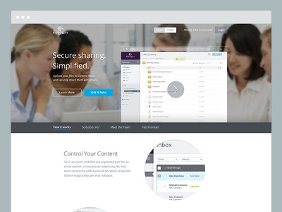 ContentRaven - Homepage Template contact form one page homepage ui ux clean marketing website public website public website