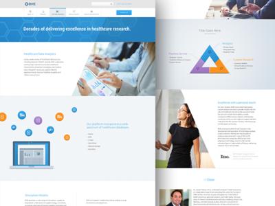 Boston Health Economics Public Website health healthcare website clean modern simple ui ux responsive illustration web
