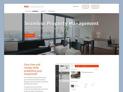 Rafi Properties Public Website construction website public ux ui clean simple web red white light
