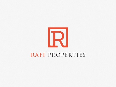 Rafi Properties Logo no monkey business logo branding construction property clean identity modern brand