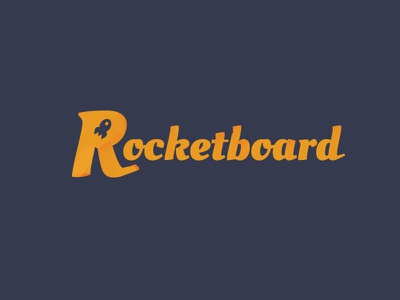 Rocketboard Logo no monkey business logo branding construction property clean identity modern orange type rocketbook rocketboard