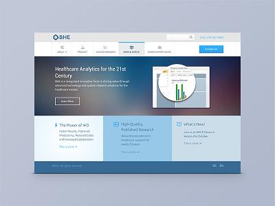 Boston Health Economics Website light healthcare ux ui responsive simple clean website