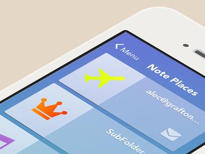 Rocketbook Mobile Application cards ios ux ui mobile app