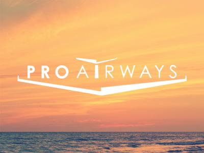 Pro Airways Logo airplane identity clean marketing luxury brand logo