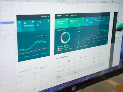 Abbilon Investing Sneak Peek  table numbers data dashboard charts clean ux ui app web app investing