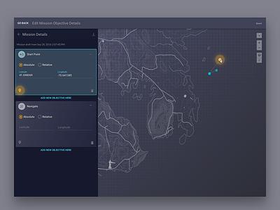 Autonomous Underwater Vehicle Platform modern clean web app robots map dark ui ui design ux design web app