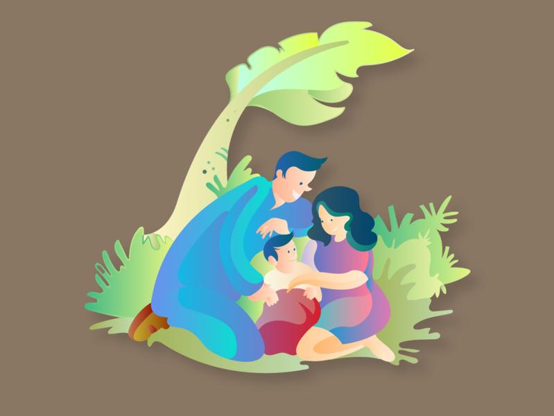 Joyful Parenting Sketch 09 product illustrations nature illustration childhealth