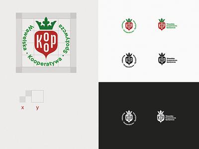 KOOP cooperative crown logo crown betroot branding illustration logotype funny brand logo