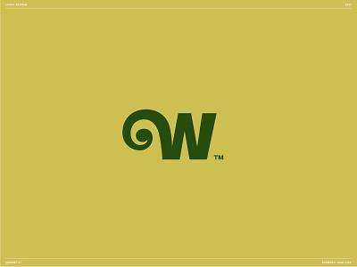 Wilma logo design letter w plant branding logo w