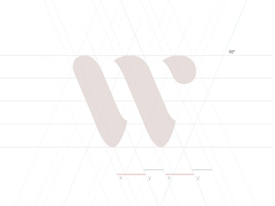 W construction w logotype logo