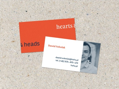 hearts & heads visit card designthinking thinking design heartsheads hearts heads branding card visit