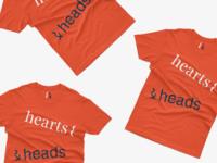 hearts & heads t shirt