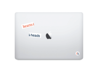 hearts & heads stickers