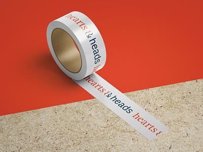 Hearts and Heads branding designthinking witty smart branding brand tape