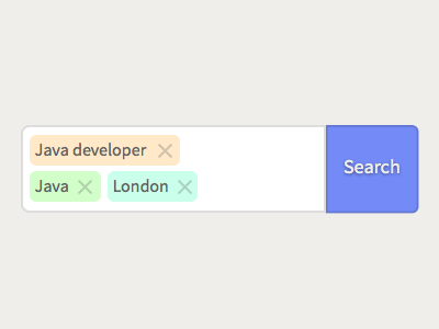 Tagged search box