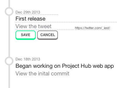 Project Hub emberjs nodejs html css