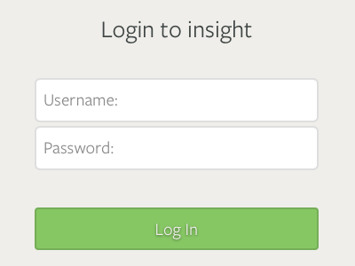 Insight2 login screen html css javascript