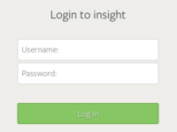 Insight2 login screen