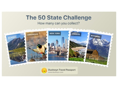 The 50 State Travel Challenge sticker badge challenge travel app travel
