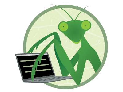 Praying Mantis Logo logo laptop praying mantis
