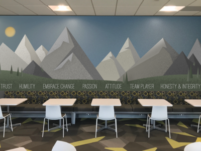 Mountain Mural Prototype corporate decorating mural mountain