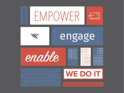 Empower, Engage, Enable DevOps T-Shirt Design wwt tech devops information technology keyboard computer